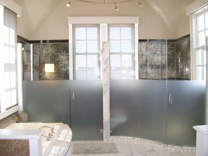 Custom Frosted and Curved Frameless Enclosure