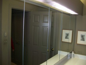 Mirrored medicine cabinets and wall mirrors