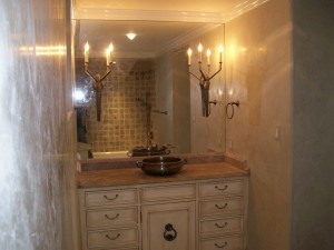 Vanity Mirror with Sconce cut-outs