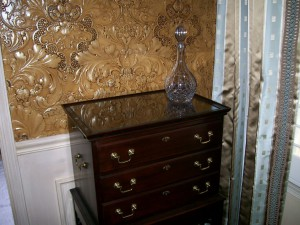 Glass dresser top