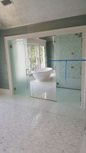 Acid Etched glass and Mirror