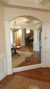 Antique Mirror with glass vent cover to match